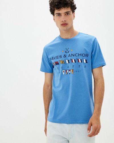 Футболка - синяя Izod