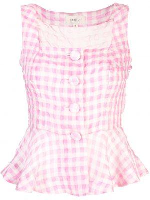 Шелковая блузка - розовая Isa Arfen