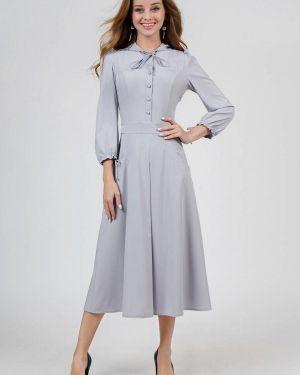 Повседневное платье серое осеннее Marichuell