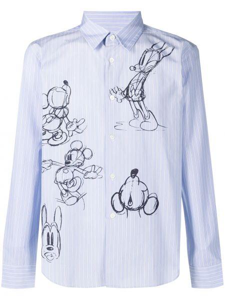 Niebieska klasyczna koszula bawełniana z długimi rękawami Comme Des Garcons Homme Deux
