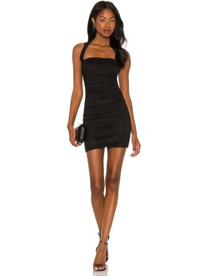 Кружевное платье мини - черное Nbd
