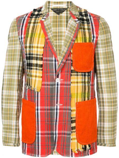 Прямой пиджак с карманами винтажный с заплатками Comme Des Garçons Pre-owned