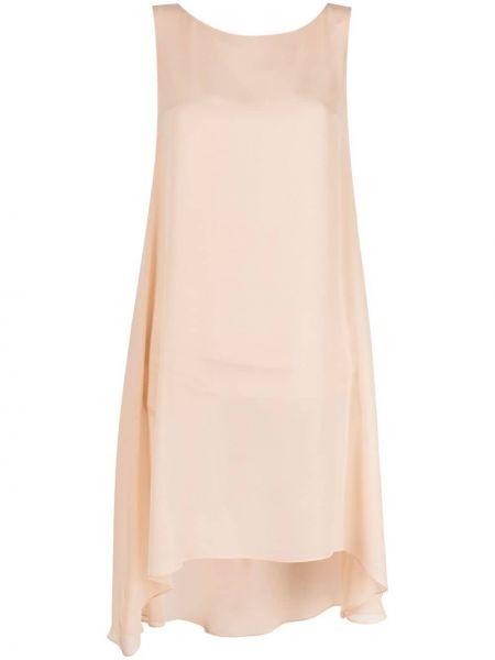 Асимметричная шелковая юбка миди на пуговицах Antonelli