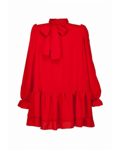 Красное платье осеннее Boom Clap