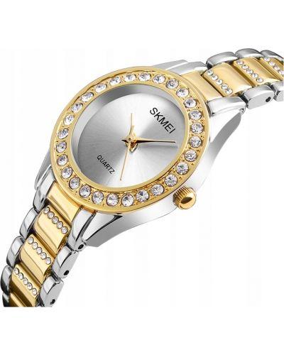 Klasyczny czarny złoty zegarek Skmei