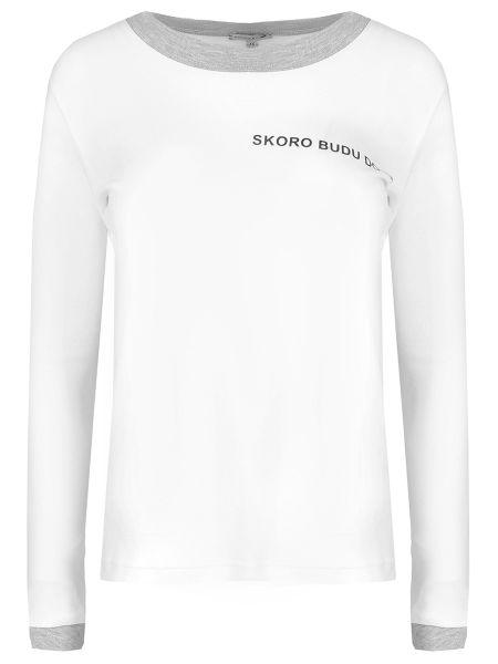 Белая футбольная футболка винтажная с круглым вырезом Natasha Zinko