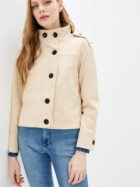 Кожаная куртка - бежевая On Parle De Vous