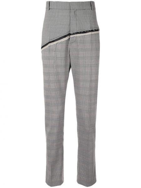 Черные прямые брюки на пуговицах с карманами новогодние Cmmn Swdn