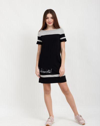 Летнее платье со вставками с надписью Lovitton