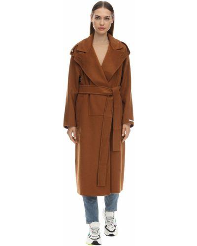 Кашемировое пальто с поясом на кнопках Sportmax