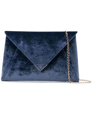 Золотистая темно-синяя шелковая сумка на плечо с карманами Tyler Ellis