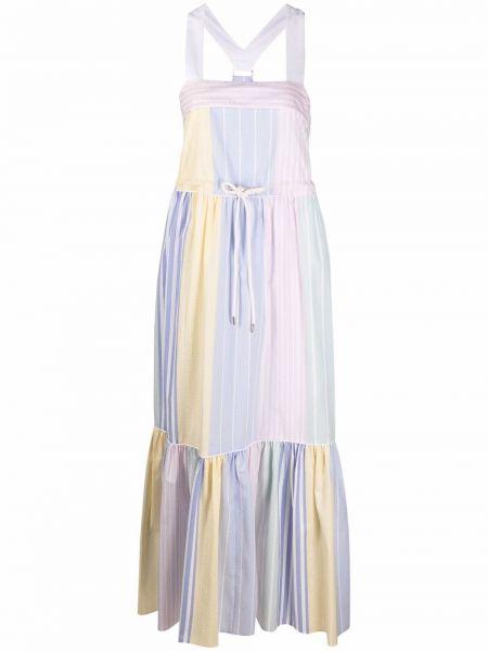 Хлопковое розовое платье макси с нашивками Hilfiger Collection