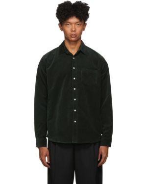 Рубашка с воротником вельветовая с заплатками с манжетами Schnaydermans