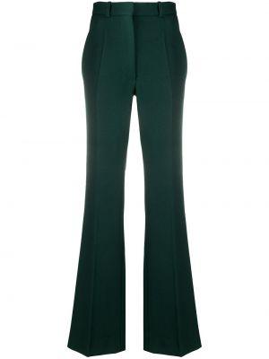 Шерстяные расклешенные брюки с карманами с высокой посадкой Victoria Beckham