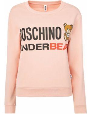 Różowa bluza bawełniana Moschino Underwear
