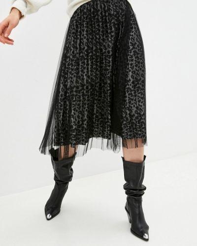 Серая плиссированная юбка Softy
