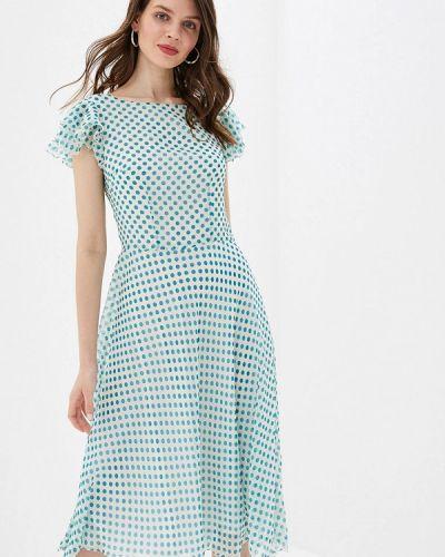 Платье бирюзовый прямое Irina Vladi