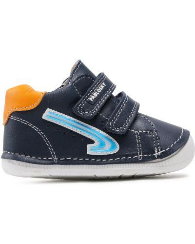 Кожаные туфли - синие Pablosky