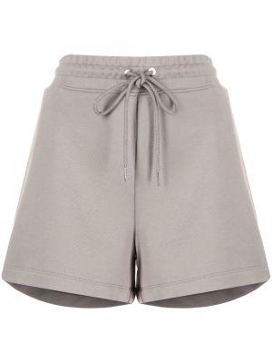 Коричневые хлопковые шорты с поясом Dion Lee