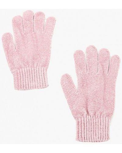 Розовые перчатки текстильные Befree
