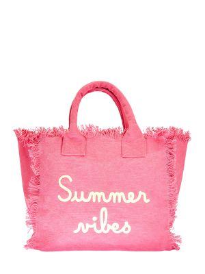 Розовая сумка с вышивкой Mc2 Saint Barth