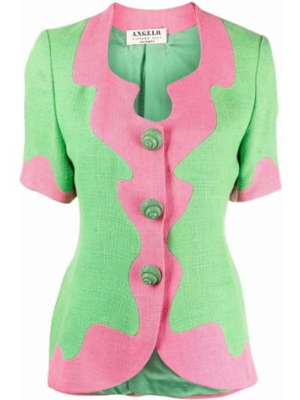 Розовая куртка винтажная с короткими рукавами A.n.g.e.l.o. Vintage Cult