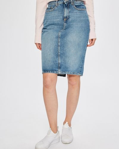 Юбка миди джинсовая на пуговицах Guess Jeans