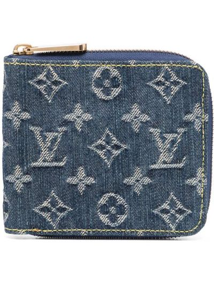 Niebieski złoty portfel Louis Vuitton