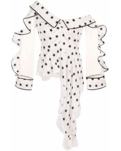Блузка с длинным рукавом прозрачная приталенная Self-portrait