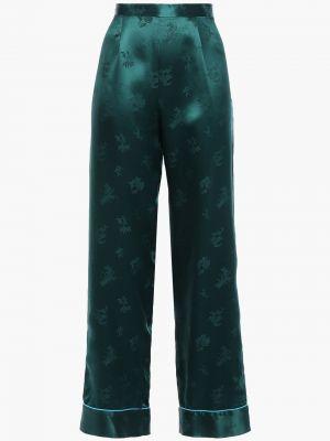 Шелковые брюки свободного кроя на крючках Anna Sui