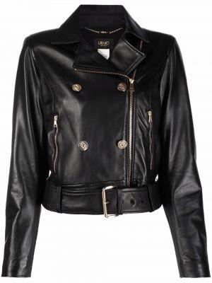 Черная длинная куртка Liu Jo