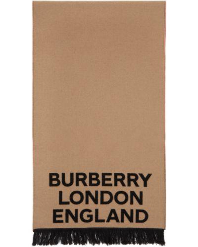 Черный шелковый шарф прямоугольный Burberry
