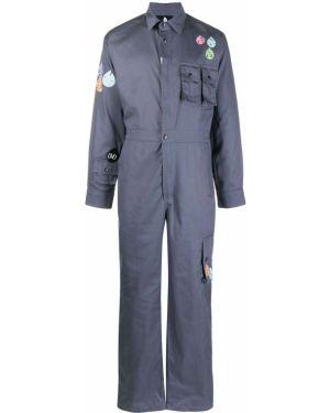 Хлопковый синий комбинезон с карманами Duoltd