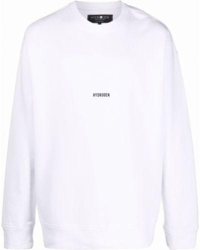 Biała bluza z printem Hydrogen