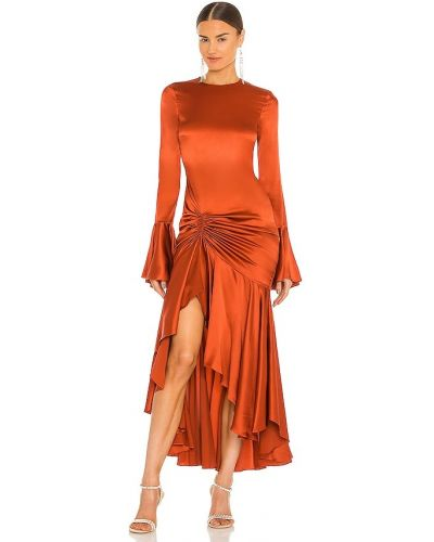Шелковое платье миди Caroline Constas