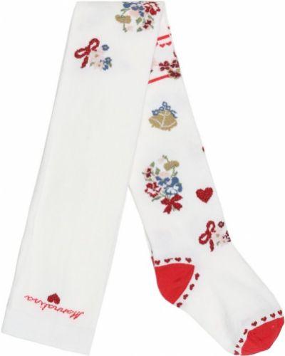 Ватные хлопковые белые носки стрейч Monnalisa