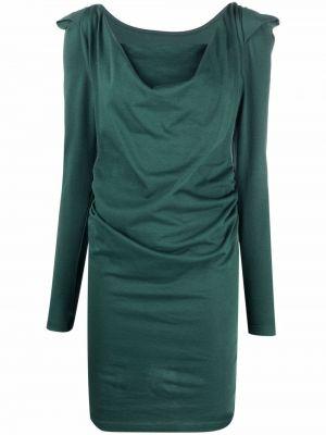 Зеленое трикотажное платье мини Vivienne Westwood