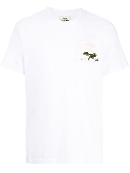 Biała koszulka bawełniana Kent & Curwen