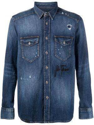 Koszula jeansowa - niebieska John Richmond