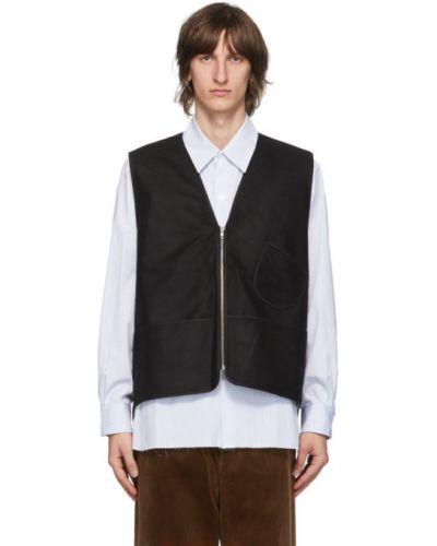 Белая жилетка с воротником с карманами без рукавов Camiel Fortgens