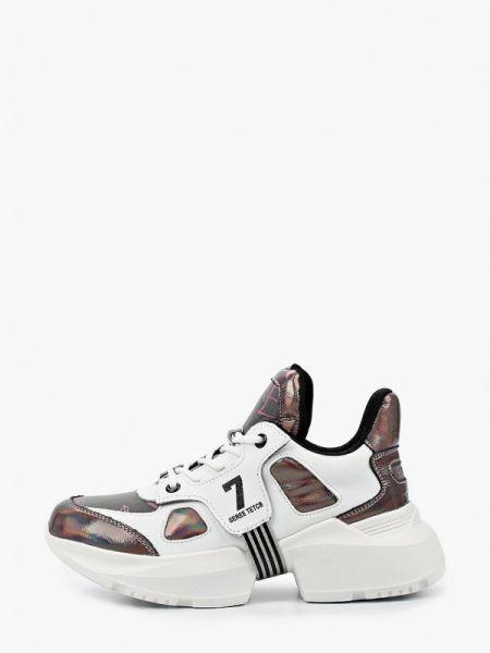 Коричневые кроссовки из натуральной кожи X-plode