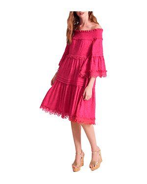 Пляжное платье розовое спортивное Luisa Spagnoli