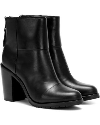 Czarne ankle boots skorzane na co dzień Rag & Bone