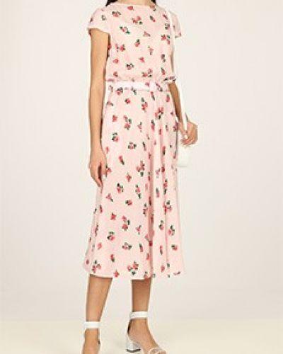 Повседневное розовое платье из вискозы Poustovit