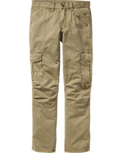 Прямые брюки хаки с карманами новогодние для беременных Bonprix