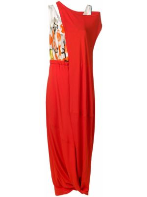 Платье с поясом с драпировкой с рукавами Marni