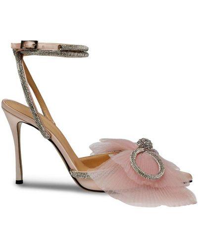 Брендовые розовые туфли-лодочки с острым носом Mach & Mach