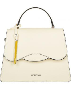 Желтая кожаная сумка Cromia