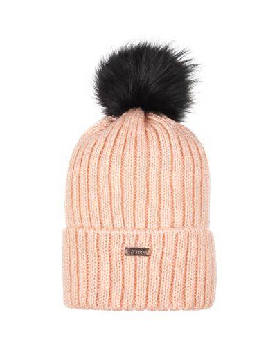 Вязаная спортивная шапка с помпоном из енота VÖlkl