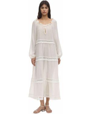 Платье макси со вставками из вискозы Eberjey